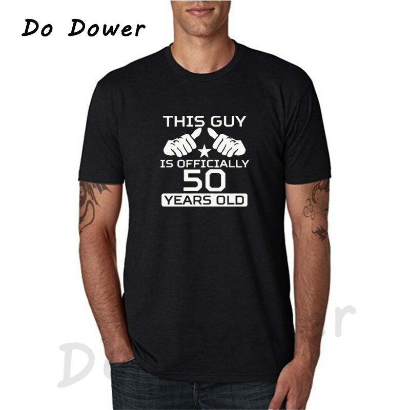 50th Birthday Shirt Bday Gift Ideas Personalized Birthday T Shirt Age Bday T-Shirt This Guy Is 50 Years Old Mens Tees Camisetas