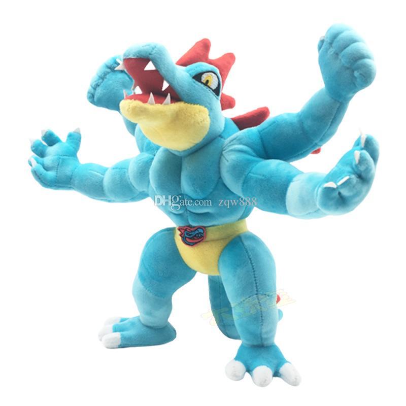 Atacado New chegada Presentes Feraligatr Stuffed Plush Toy para o Natal Criança 30x40cm
