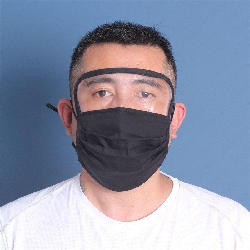 7 couleurs Lavable Masque visage avec filtre PM2,5 plastique transparent à sous couverture yeux écran facial unisexe réutilisable respirant vélo Couverture Protector6809
