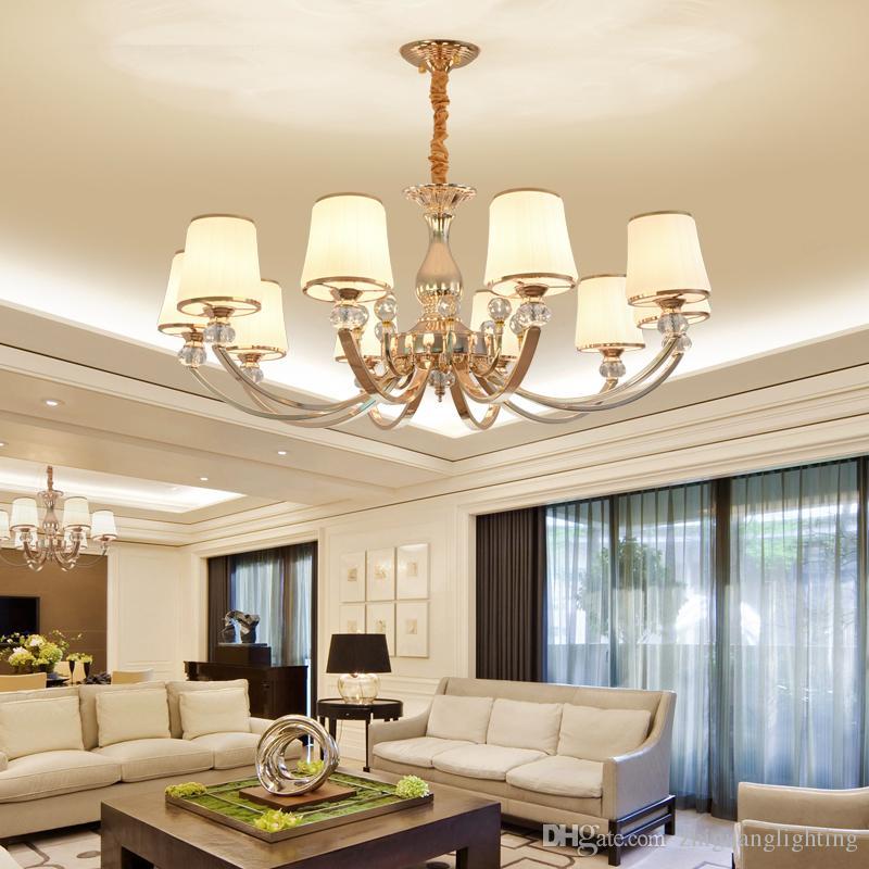 European Style Living Room Ceiling Lamp Modern Restaurant Lamp Golden  Bedroom Lighting Villa Hotel Beauty Salon Pendant Lights Ceiling Chandelier  ...
