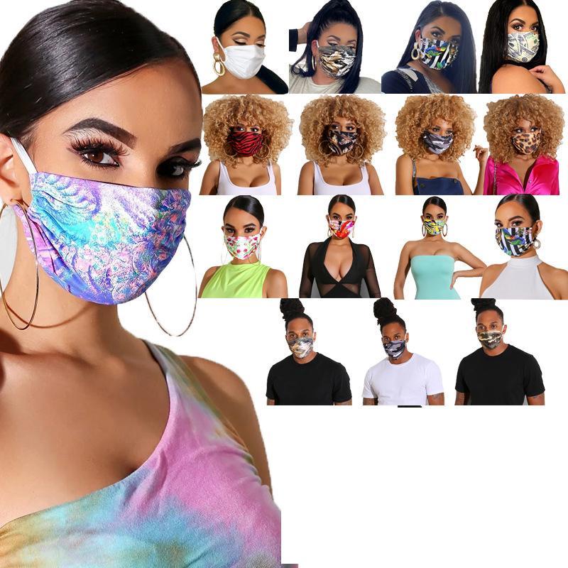 Las mujeres de los hombres Una cara con la máscara reutilizable historieta de la impresión festiva máscara ultravioleta a prueba lavable Correr Montar Máscaras del partido bicicletas DHA125