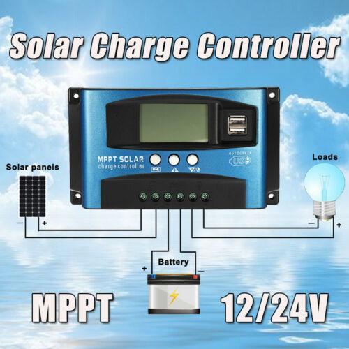100A MPPT لوحة للطاقة الشمسية منظم تهمة تحكم 12V / 24V تتبع التركيز التلقائي