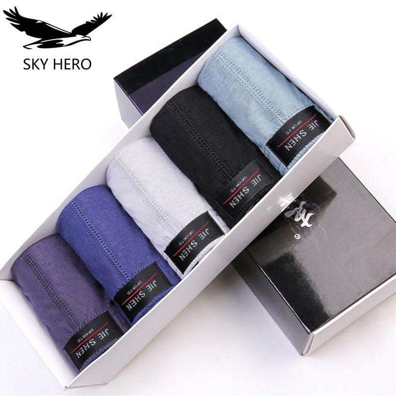 5pieces / lot 100% coton Briefs Hommes Sous-vêtements confortable Brief Slip masculin pour l'homme M / L / XL / 2XL / 3XL / 4XL / 5XL Drop shipping T200511