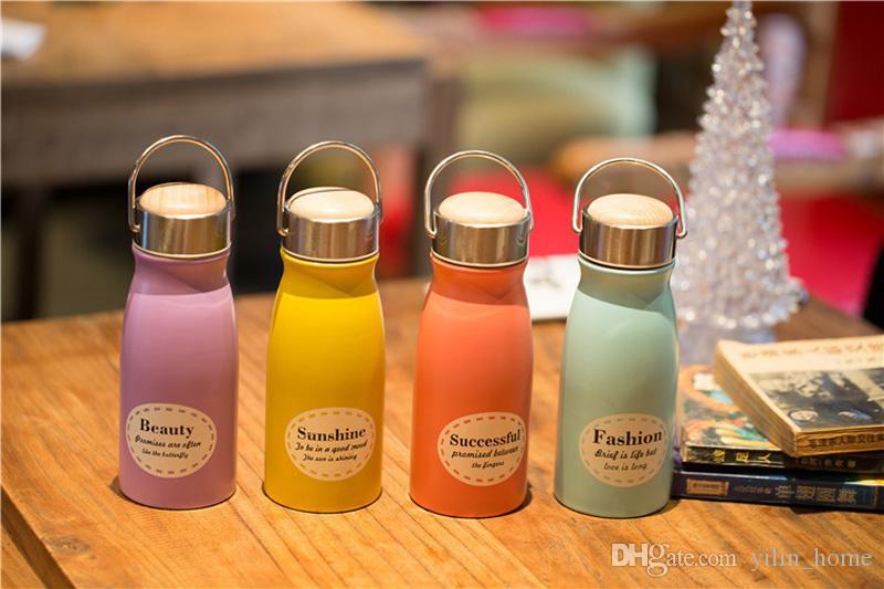 4 개 색상을 선택할 수 있습니다 크리 에이 티브 진공 컵 절연 더블 벽 304 개 스테인레스 스틸 머그컵 아름다운 물병