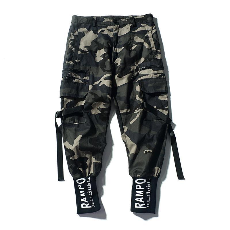 Hommes Camouflage Cargo Pants Street Fashion Homme Hip Hop Crayon Pantalons 100% hommes occasionnels Sweatpants Swag Marque Vêtements