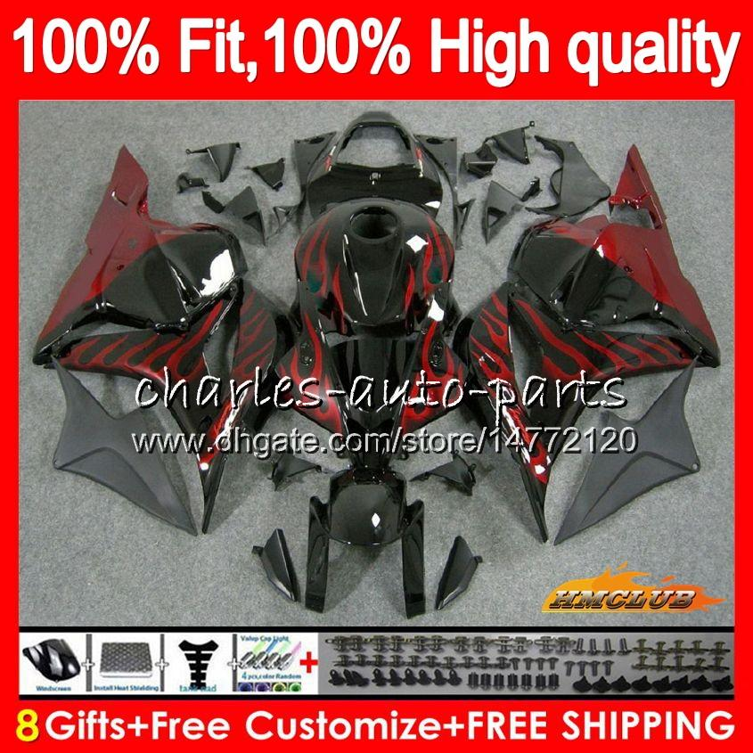 OEM inyección para HONDA CBR rojo llamas nueva 600 RR CBR600RR 600F5 74HC.5 CBR600 RR CBR 600RR F5 600cc 2009 2010 2011 2012 09 10 11 12 carenado