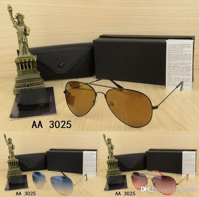kutu Erkek gözlük altın metal klasik Vintage Gözlük óculos de sol masculino ile Marka Star Style Ücretsiz Kargo erkek ya da kadın Güneş