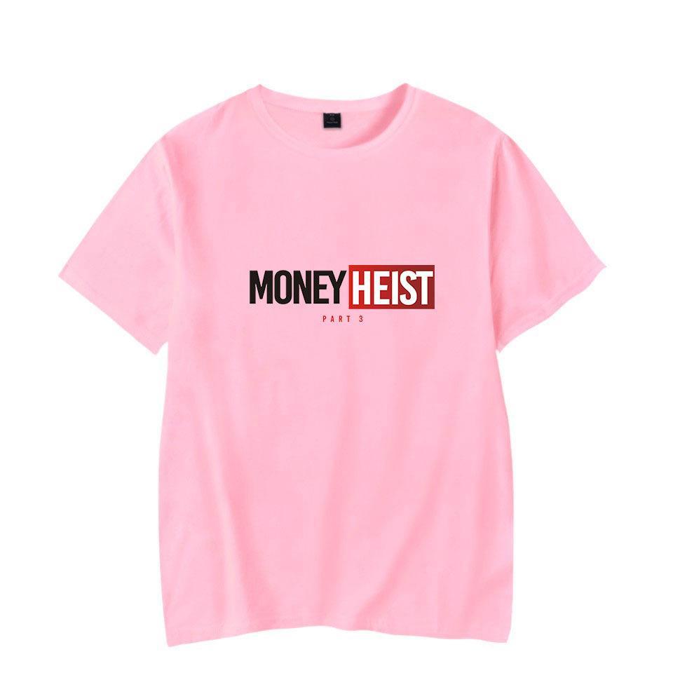 새로운 T 셔츠 남자 재미 있은 디자인 La Casa De Papel Tshirt 돈 Heist Tes TV 시리즈 Tshirts 남자의 짧은 소매 집 T- 셔츠