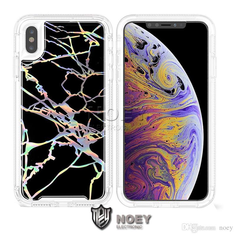 Marmo laser Custodia per iPhone Robot 11 Pro XS MAX XR X 8 7 Galaxy note10 S10 Inoltre S10e lucido di modo del telefono di Shell