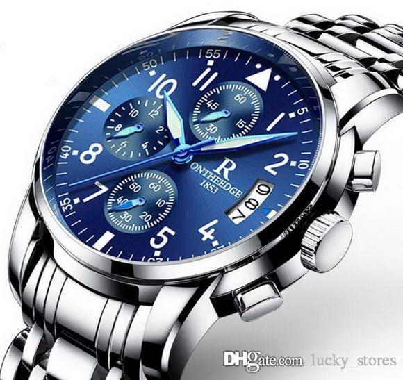 الأزياء Datejust الصلب 41MM رجال العلامة التجارية مصمم ساعات الكوارتز الأعمال ووتش يتوهج في الظلام ساعة اليد للرجال بيع على الانترنت