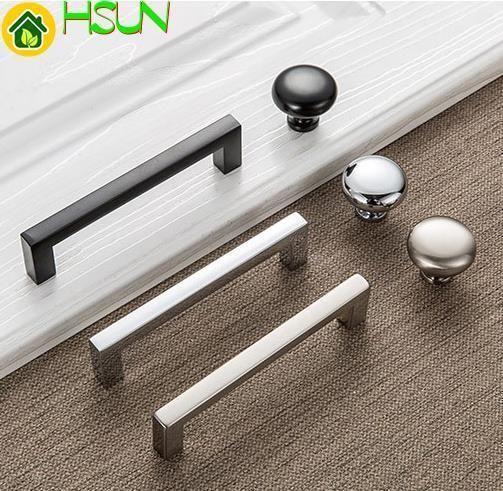 2019 3 75 5 Dresser Drawer Knobs Pulls Handle Black Chrome Silver Brushed Nickel Kitchen Cabinet Handle Pull Knob Modern Handles From Jmqj66 2 69