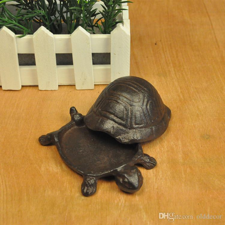 Cast Iron Tortoise Key Hider Hide A Key Lawn Yard Garden Courtyard