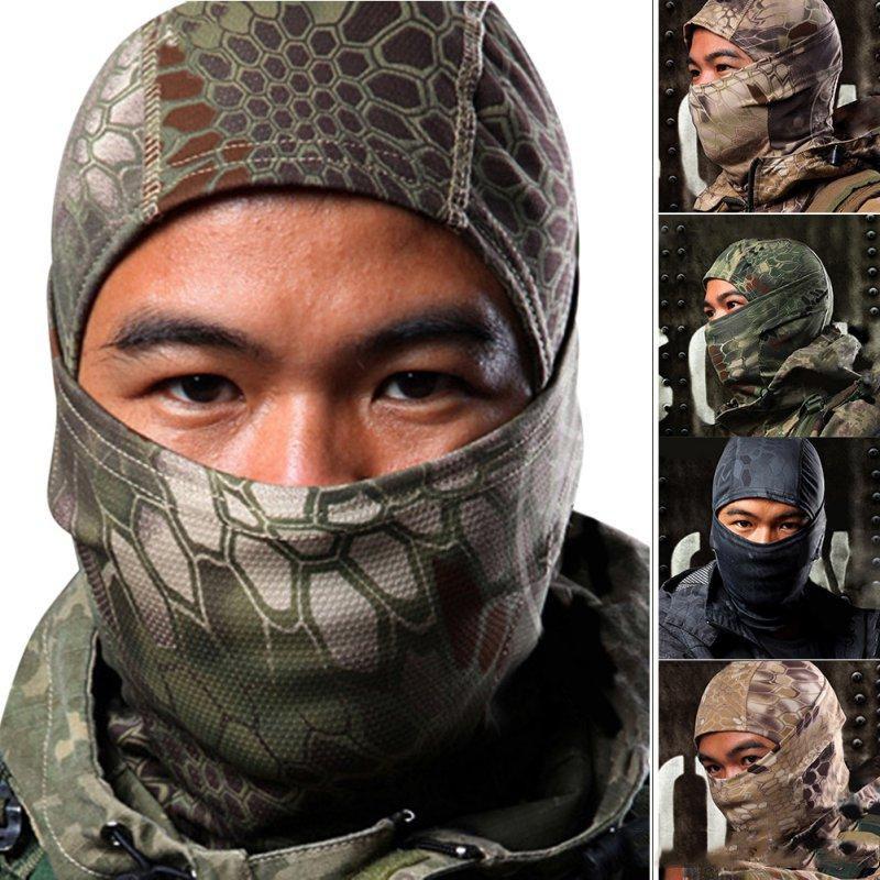 Acessórios Outdoor completa Rosto Militar Máscara Ciclismo Tactical Airsoft esqui de secagem rápida capa novo fresco Caça Acessórios