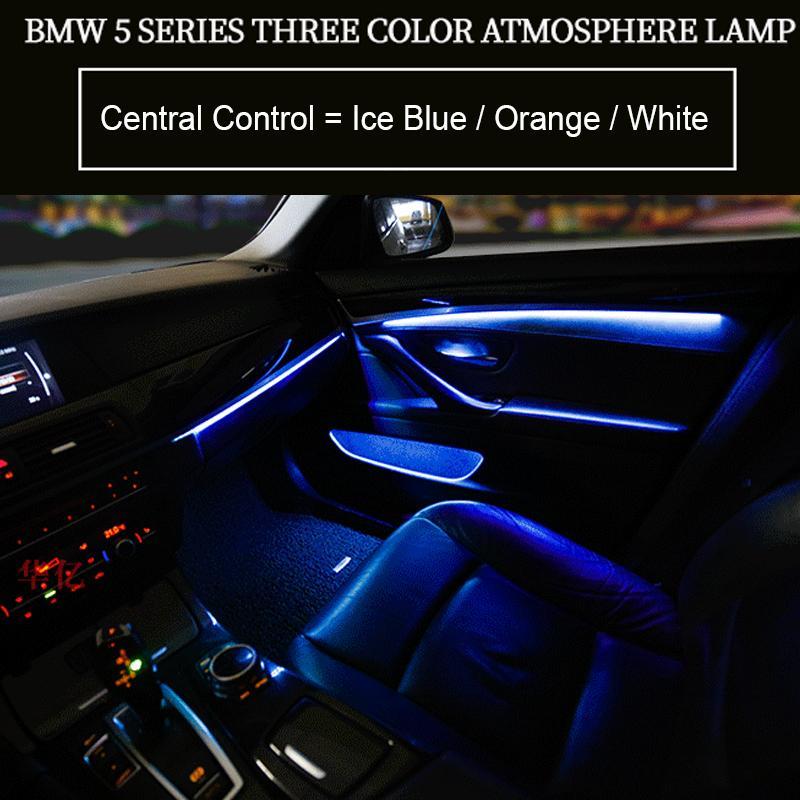 자동차 인테리어 장식 주도 주위 문 빛 줄무늬 분위기 라이트 BMW 5 시리즈 F10 / F11 / F18 / F15 14-18를 들어 3/9 색상을