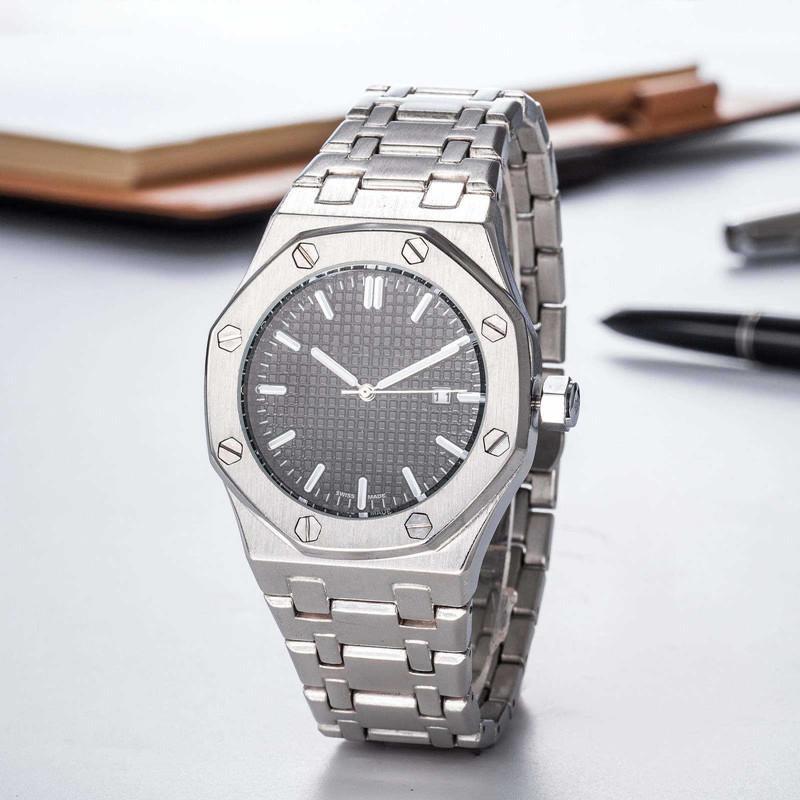 2020 رجل لوكس الساعات الياقوت الفولاذ المقاوم للصدأ حركة الكوارتز التلقائي أعلى جودة ساعة اليد الرجال الشهير ساعة مع تقويم