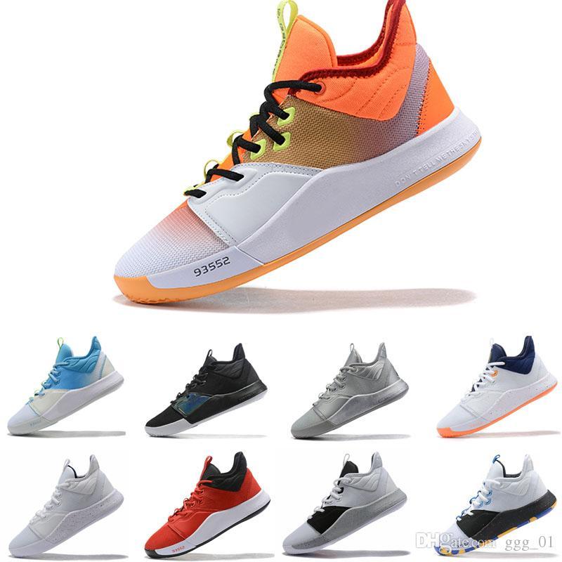 Paul George 3 PG3 Lure pallacanestro scarpe stivali di pallacanestro degli uomini di dimensioni Trainer Sport scarpa da tennis 40-46