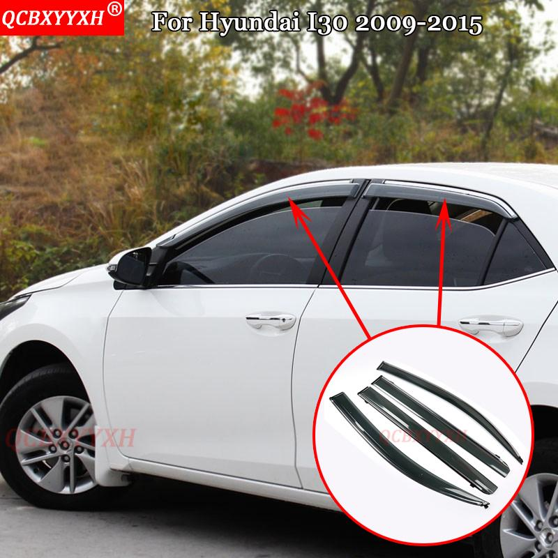 Qcbxyyxh Car Styling For Hyundai I30 2009 2015 Awnings Shelters Window Visors Sun Rain Shield Stickers Covers Auto Accessories