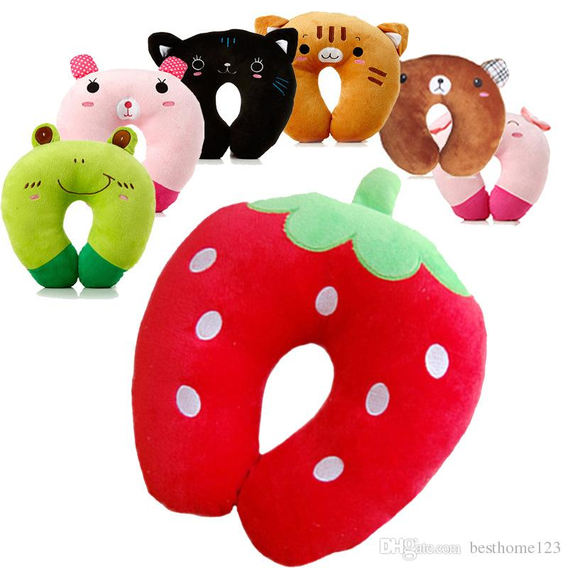 9 Cartoon Animals Design U-Shape Travel Pillow Inflatable Neck Comfortable Pillow for Sleep Home Creative Textile Gifts Travel Accessories