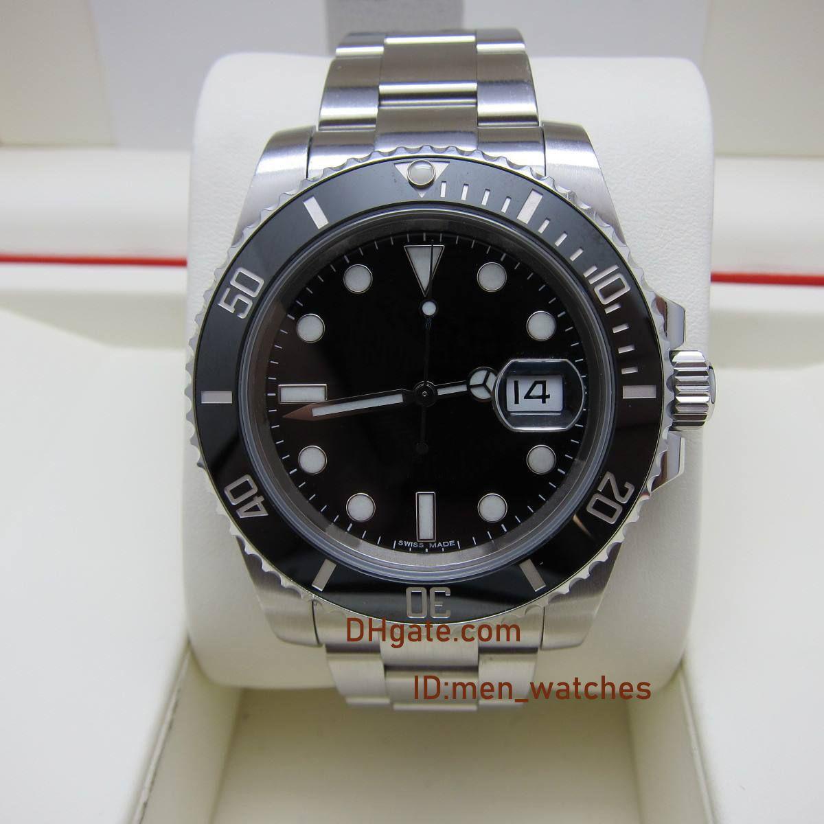 TOP N fábrica de los hombres de lujo miran V10 zafiro relojes ETA 2836 ETA 3135 movimiento bisel de cerámica modelo 116610ln reloj de pulsera de acero inoxidable 904L