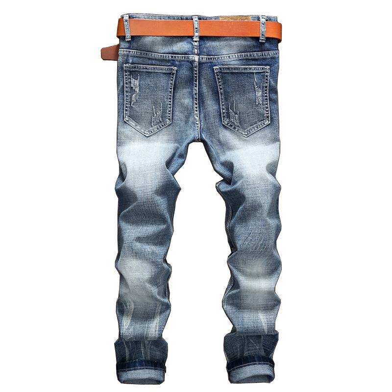 Männer Casual Jeans Marke Light Männliche junge neue Blue Jeans Stretch Jeans Hosen Mode Männer Dnodk