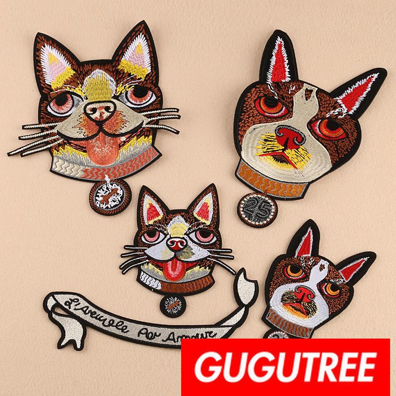 de grandes taches de chiens GUGUTREE patches badges patches pour les vêtements BP Appliqué-615
