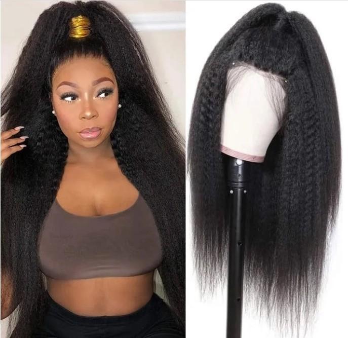 Celebrity Parrucche Lace Front Wig Kinky parrucca merletto diritto naturale dei capelli di colore 12A Grado Virgin brasiliano umana piena di donne di colore di trasporto