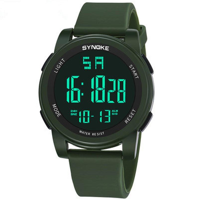 Горячие мужчины спортивные часы многофункциональный военные спортивные часы светодиодный цифровой двойной движение резиновые наручные часы 2019