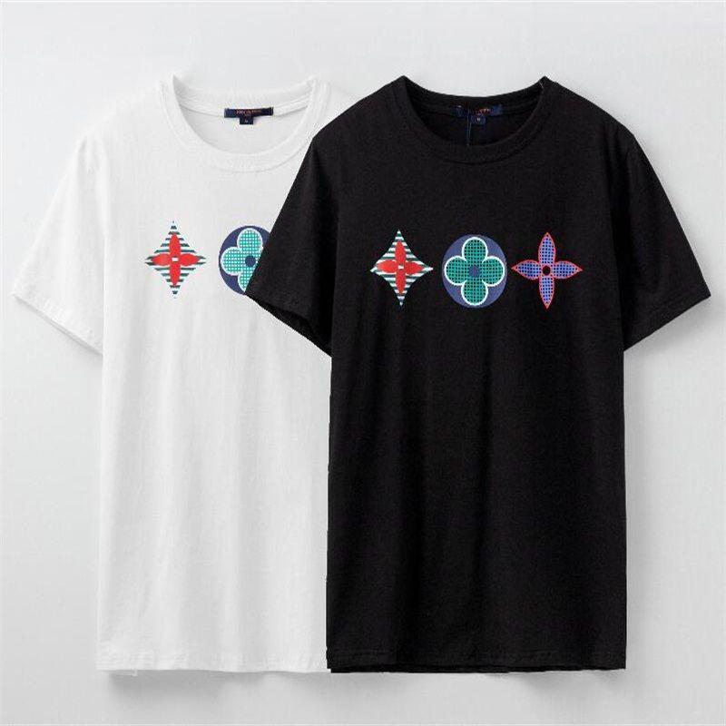 New verão de 2020, T-shirt dos homens de alta qualidade, T-shirt de manga curta de moda masculina carta padrão das mulheres