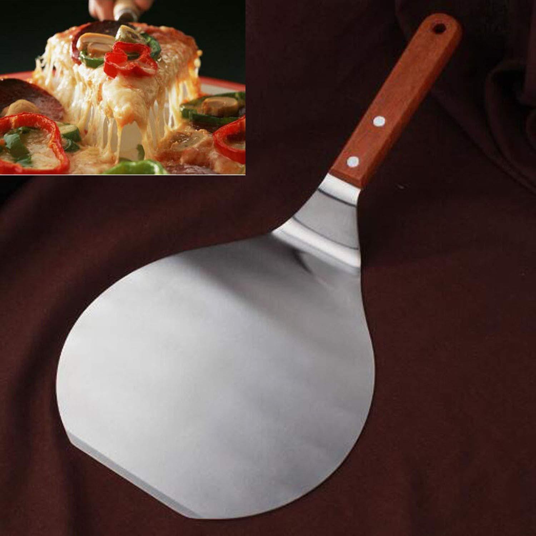 Stainless Steel Spatula Peel Shovel Turner Cake Pizza shovels Stainless Steel Pizza Plate Spatula Peel Shovel Cake Lifter Holder Baking Tool