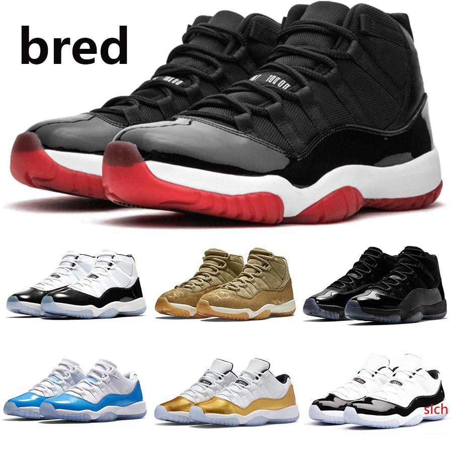 Bred 11 Mens Jumpman Scarpe Da Basket 11 S concord 45 ereditiera berretto nero e abito basso Baroni nightshade Uomo Donna Sport sneakers US5. 5-13