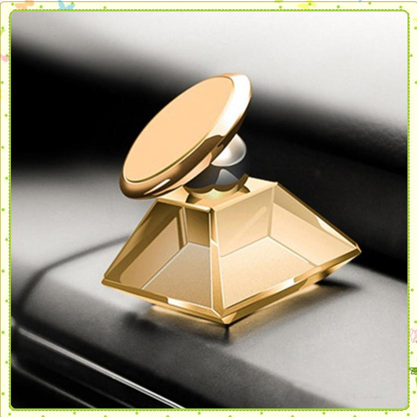 Bijoux en cristal de luxe support voiture mont PPMA aimant magnétique 360 degrés de rotation téléphone portable Support mobile universel pour téléphone GPS MQ100