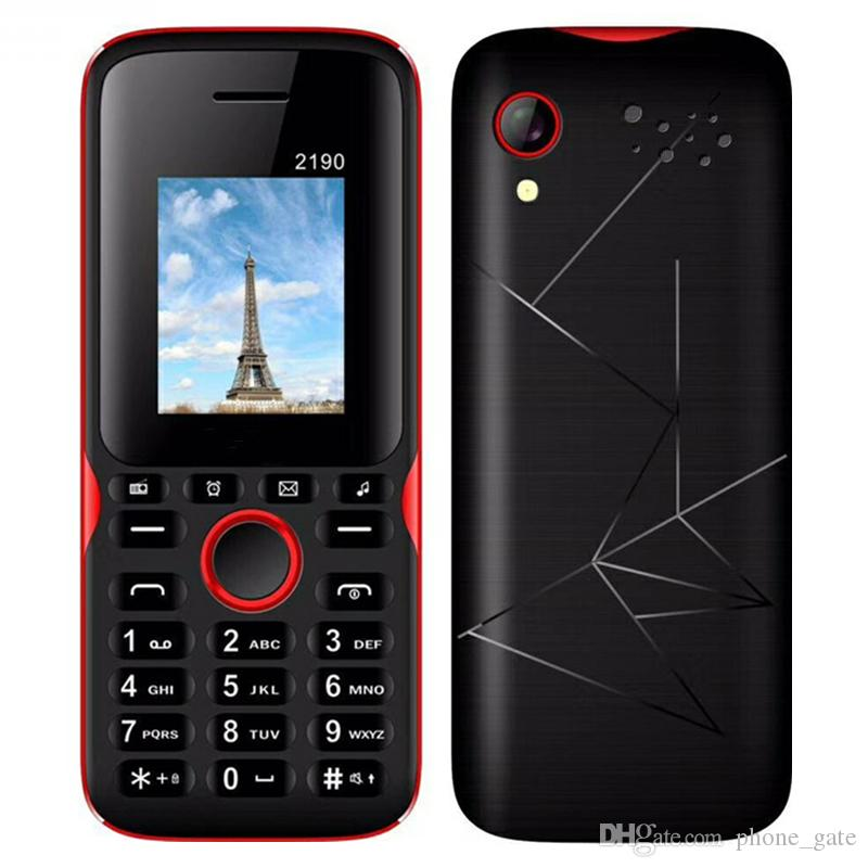 2190 Cell Phone Dual Sim 1.77in Screen 64MB/32MB Support GPRS Wap Whatsapp MP3 MP4 Torch light Bluetooth Mobilephone For Child Elderly