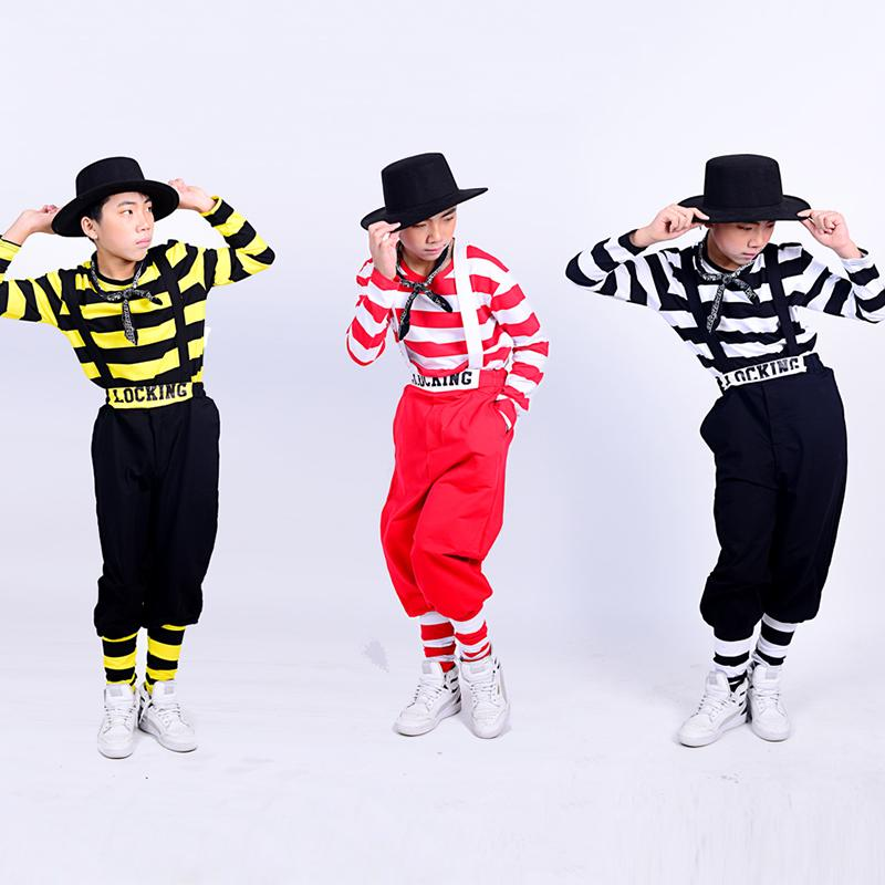 2020 Boys Hip Hop Dance Costumes Fashion Striped Top Bib Pants Children Street Dancing Clothes Jazz Stage Performance Wear Dn4870 From Beautyjewly 48 44 Dhgate Com