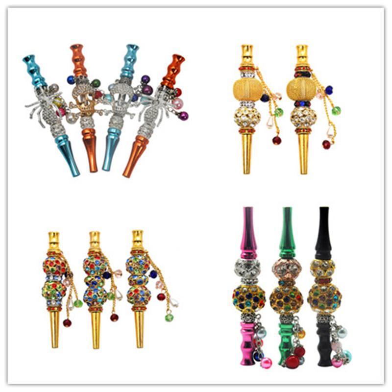 Moda Handmade jóias incrustadas liga Hookah Boca Dicas Shisha Chicha Filtro Dica Hookah Bocal Dicas Boca