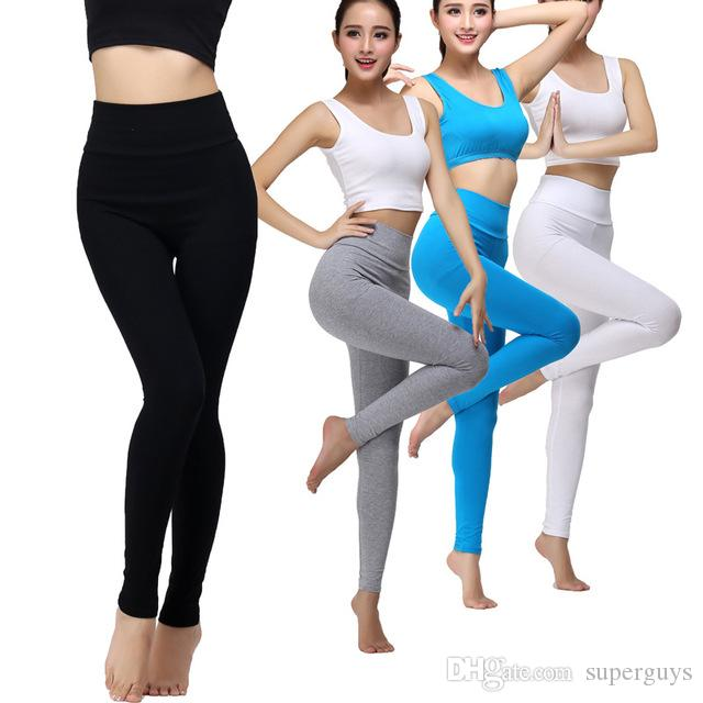 fashion Sexy Women Yoga Outfits Elastic Leggings Pants Spandex Thicken Material Clothing Running free shipping PT07