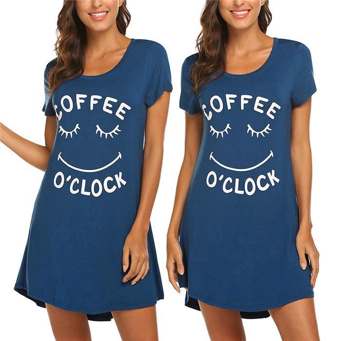 Mektup kısa kollu bayan elbiseler yaz ekibi boyun gevşek tasarımcı basit tişört elbise famale rahat kıyafetler