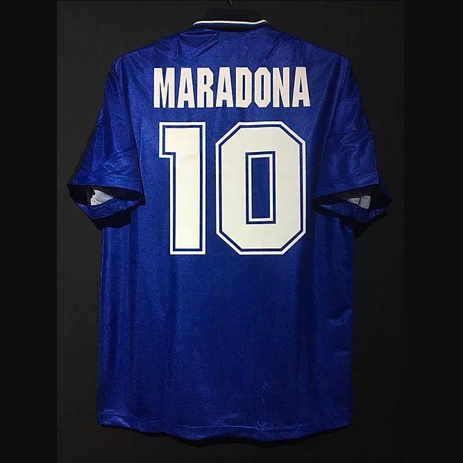 Retrô 1994 Argentina Away Jerseys de futebol Maradona Batistuta CanigGa Redondo Simeone Ortega Kit Vintage Camisa Clássica