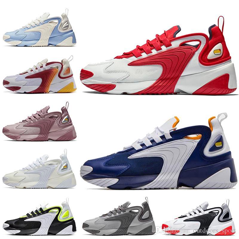 Nike Air Zoom M2k Tekno Off White Kadın Erkek Koşu Ayakkabıları Barely Gül Kraliyet Mavi Üçlü Beyaz Siyah M2K Tekno Tasarımcı Eğitmenler Spor Sneakers