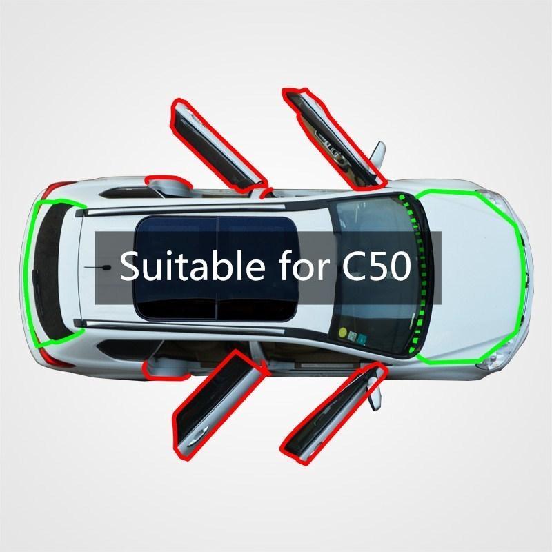geçirmez Feng Shui çarpışma ses yalıtım eklenti modifiye kauçuk sızdırmazlık şeridi - Seddi C50 otomobil sızdırmazlık dikiş toz İçin