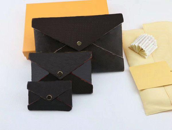 Дизайнер роскошные сумки кошельки 3 комплект бренд кошельки карты держатель кошельки мода сумка для хранения с коробкой 62034