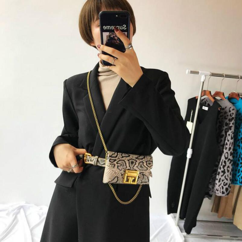 Designer Luxury Waist Bag Women Chain Bags Classic Shoulder Bags Retro Portable Serpentine Phone Bags Crosscody