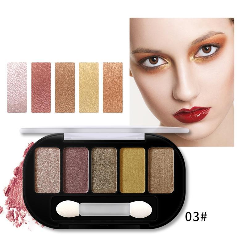 Eyeshadow Shimmer Matte Charming 5 cores Paleta de Sombra Make up Palette pigmentado EyeShadow Moda Cor