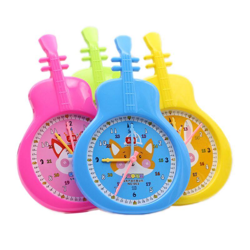 Новые Детские музыкальные игрушки Learn To Tell Time Clock Модель Обучение детей Детские раннего обучения интеллект игрушки Подарки для детей