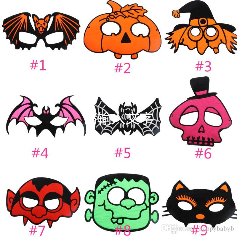 Cadılar bayramı Cosplay Maskeleri Karikatür Kabak Maske Kostüm Partisi Maskeli Göz Maskesi Çocuk Çocuk Noel Doğum Günü Hediyesi