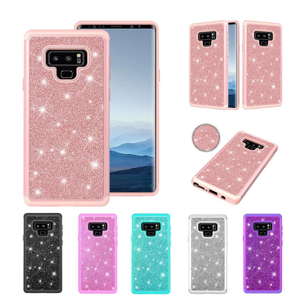 Note 9 Case Glitter Sparkle Bling Heavy Duty Hybrid High Impact Protective Cover Cases For Samsung Galaxy Note 9 2018 6.4 Inch