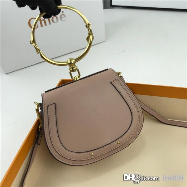 venta caliente de las mujeres del diseñador de lujo del bolso de hombro nueva bolsa genuina pulsera de cuero crossbody bolsa de estrella 7264991 Chol tamaño de serie 19 * 6.5 * 15CM-