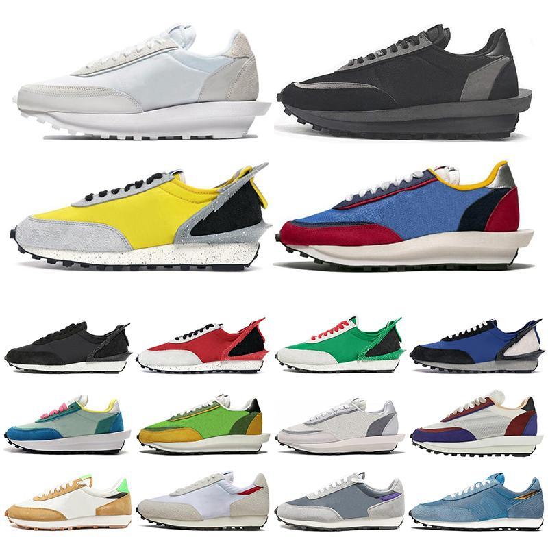 Cheap LDV Waffle scarpe da corsa per donne degli uomini bianchi di nylon grigio pino verde Gusto Varsity Blues mens formatori sport sneakers Size 36-45