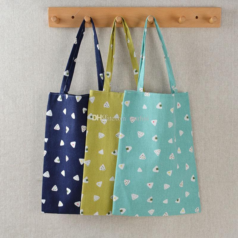Semplice spalla dell'annata del progettista bag Shopping Bag di grande capienza della spiaggia del cotone Lino Borse Donna riutilizzabili sacchetti di drogheria DHL libero WX9-1308