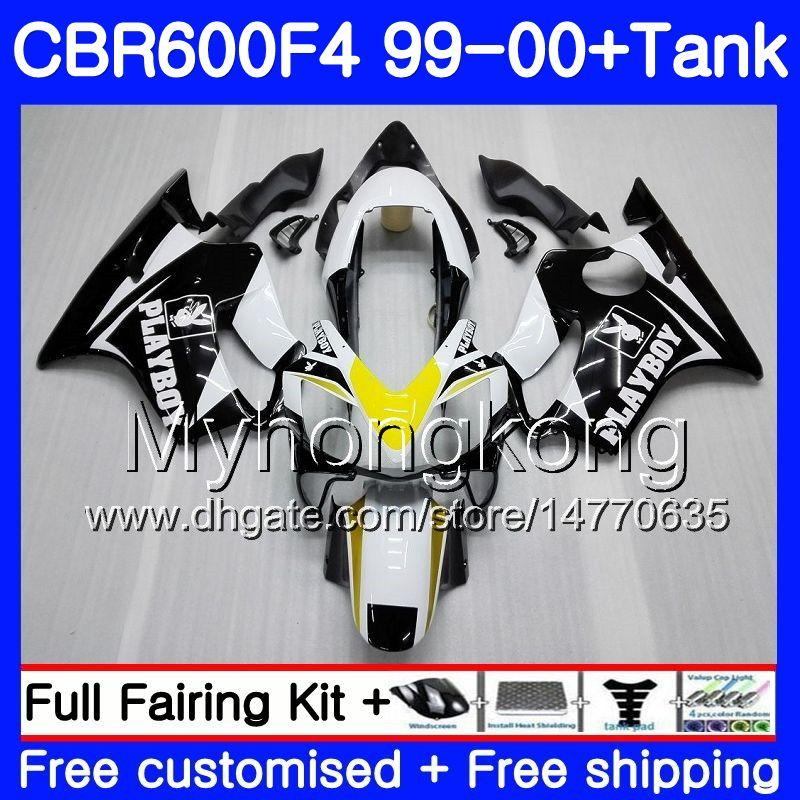 Corps + réservoir Pour HONDA CBR600 F4 CBR 600 F4 FS blanc chaud CBR600 F 4 287HM.19 CBR600F4 99 00 CBR600FS CBR 600F4 1999 2000 Kit carénages
