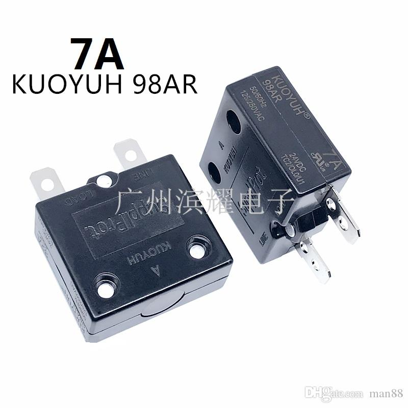 Taiwan KUOYUH Overcurrent Protector Overload Switch 7A 98AR Series Automatic Reset